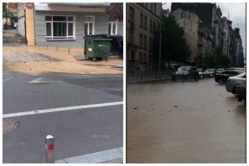 Центр Киева залило кипятком и грязью, люди не могут передвигаться: кадры катастрофы