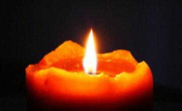 Свічка, горе, траур