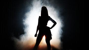 зведа, певица женщина, тень,