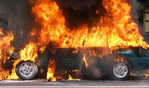 машина пожар