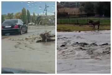 """Стихія обрушилася на Одещину, відео: """"вулиці перетворилися на брудні річки"""""""