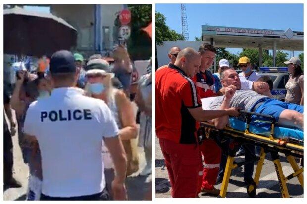 Протест спалахнув під Одесою, з'їхалися швидка і поліція: є постраждалі, відео