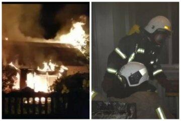 Масштабна пожежа охопила житловий будинок, всередині знайдено тіла людей: кадри НП під Києвом