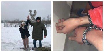 """""""На второй день рука опухла"""": рекорд скованной цепью харьковской пары оказался под угрозой, видео"""