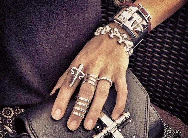 гламур рука кольца