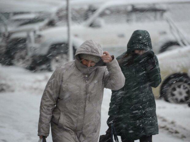 шторм, снег