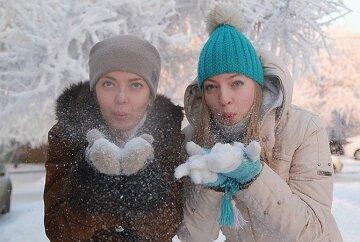 мороз, девушки