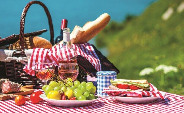 пикник, природа, отдых, лето