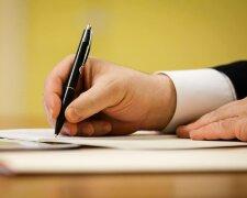 подписывать, ручка