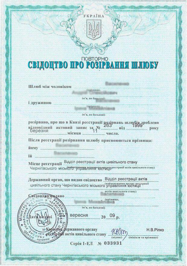 закон о разводе украина