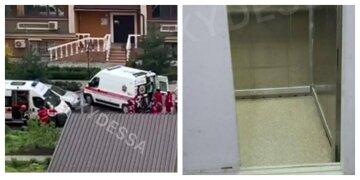 Ліфт з людьми впав в одеській багатоповерхівці: кадри з місця НП і перші деталі