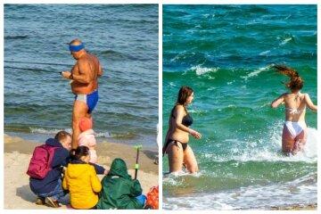 В Одесі відпочиваючі відкрили пляжний сезон: кадри розлетілися по мережі