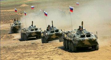 Россия, войска, граница, танки РФ, БТРы