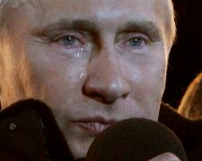 путин плачет слеза