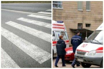 Жизнь юной украинки висит на волоске, мопед сбил ее на пешеходном переходе: детали и фото