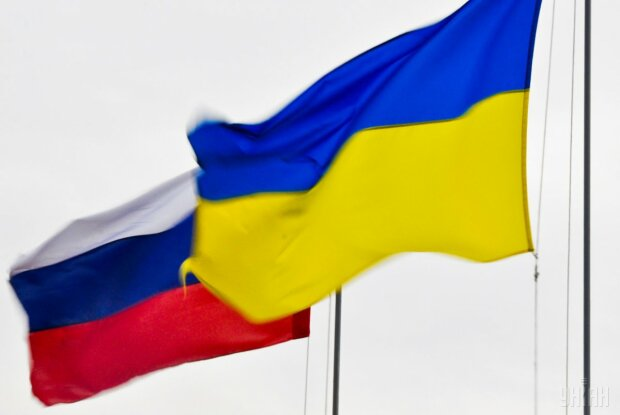Украина Россия флаги