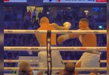 Усику не дали нокаутувати Джошуа в кінці бою: відео скандального моменту