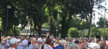 Мітинг під Верховною Радою: Партія «Держава» вимагає повернення соціальних гарантій для українців