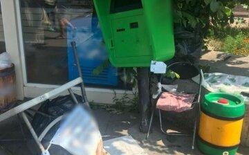Маршрутка не розминулася з продавщицею квасу: кадри аварії в Полтаві