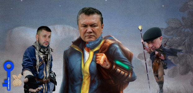 коллаж Янукович