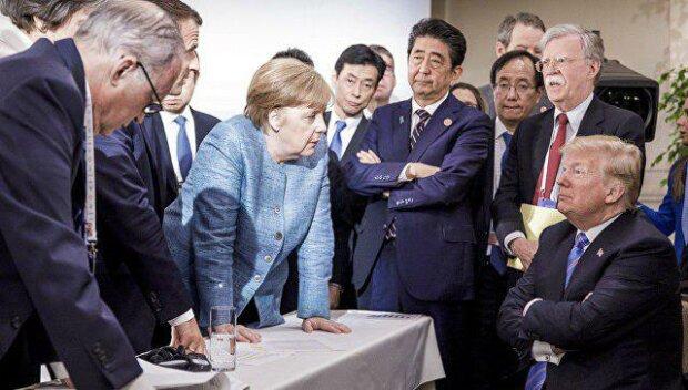 Агресивний Трамп закидав Меркель цукерками через Путіна