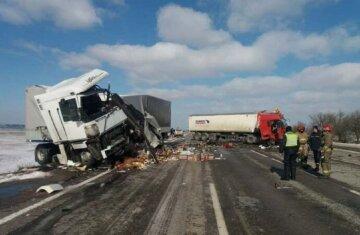 Авария с грузовиками забрала жизни людей на трассе под Одессой: жуткие кадры ДТП