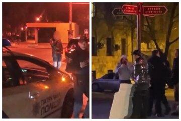 В Одесі людину примотали до стовпа скотчем, приспіла поліція: відео з місця