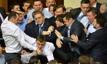 рада, депутаты, драка в парламенте