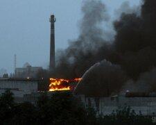 Взрыв, пожар на заводе
