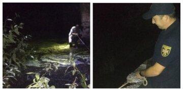 Просил помощи под мостом: на Харьковщине мужчина застрял в реке, фото