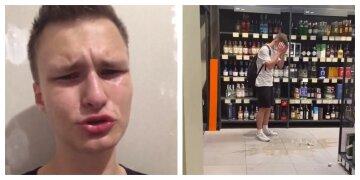 """""""У меня нет денег"""": блогер ради забавы разбил дорогой алкоголь в супермаркете, видео"""