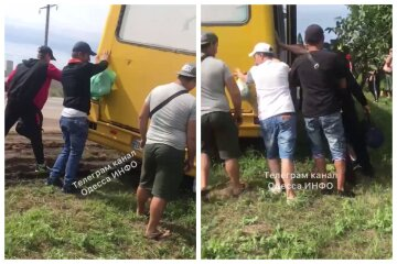 """Маршрутка с пассажирами слетела с дороги вблизи Одессы: """"Водитель хотел объехать пробку"""""""