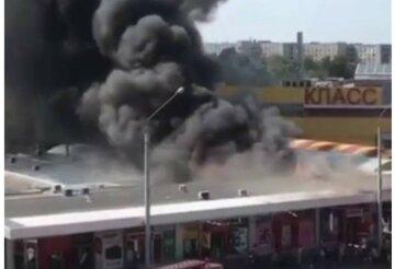 Мощный пожар охватил харьковский рынок, первые кадры с места ЧП: слетелись спасатели