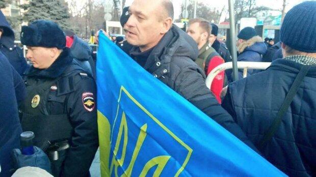 флаг украины марш немцова