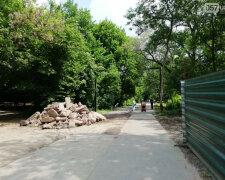 сад Шевченко, стройка