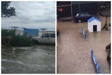Стихия испортила отдых украинцам: море поглотило пляжи и заливает базы отдыха, видео