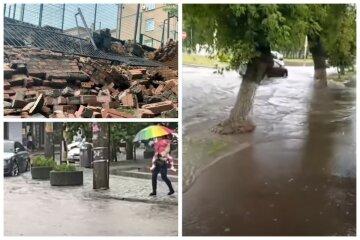 Погода розійшлася в Україні, відео: змило асфальт і вулиці перетворилися на бурхливі потоки
