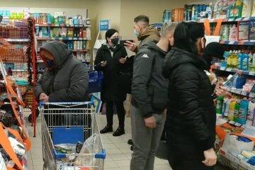 локдаун, украинцы, карантин, супермаркет