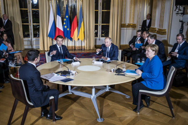 Зеленский, Путин, Макрон, Меркель в Париже нормандская четверка