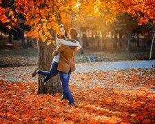 пара, мужчина и женщина, осень