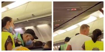 Українця вигнали з літака за відмову надягати маску, відео: відверто хамив і грубив
