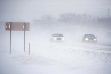 Зима, сніг, буря, погода