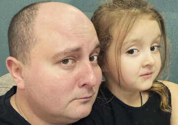 Юрий Ткач с дочкой