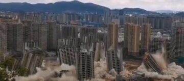 Вибухи стерли з лиця землі відразу 15 хмарочосів: відео з місця подій