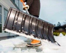 снег, лопата, уборка снега