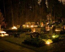 день всех святых, кладбище, свечи, поминовение