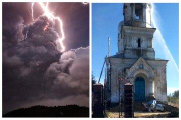 Стихия разгулялась в Одесской области, молния ударила в храм: кадры пожара