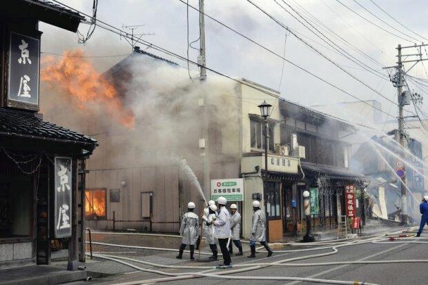 В Японии произошел беспрецедентный пожар (фото)
