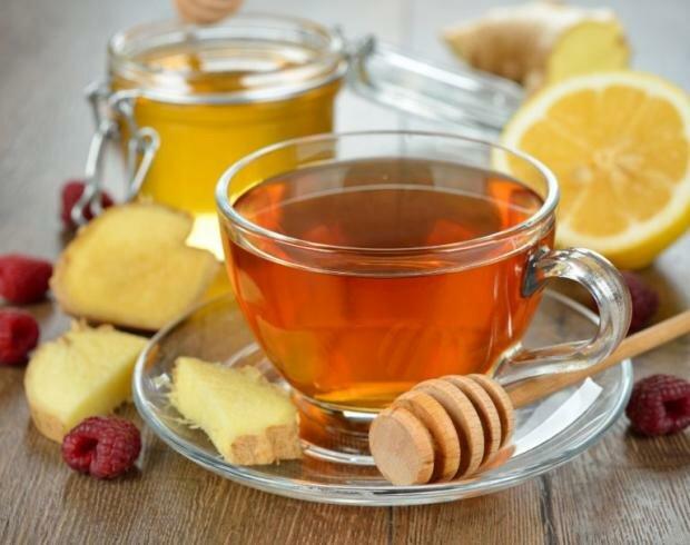 напитки от простуды, чай, мед