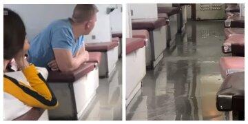 """""""Вонь невыносимая"""": Укрзализныця попала в очередной скандал, вагон затоплен"""